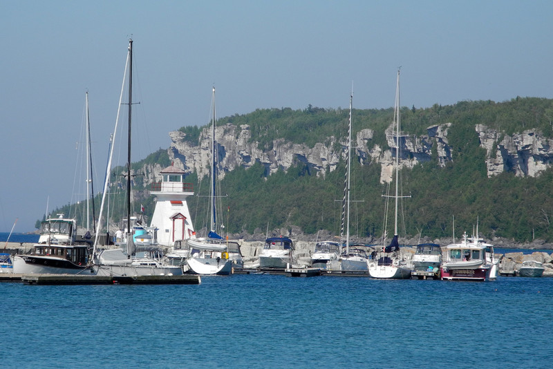 Lions Head harbor on east side of Bruce Peninsula