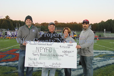 Joe Bucher/Bucher's Blues Fest Donates to NP Youth Football and Cheerleading