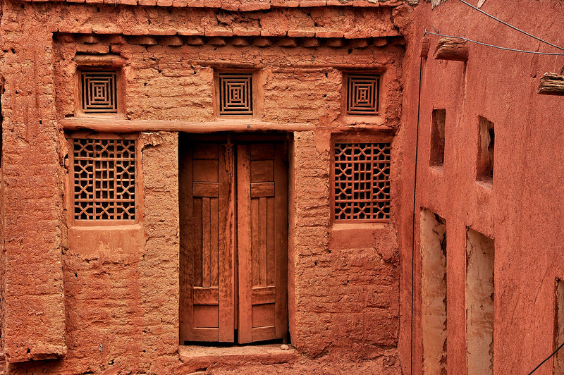 Old Adobe House in Abyahen, Iran.