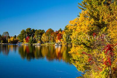 Fall Foliage Lakes and Marshes