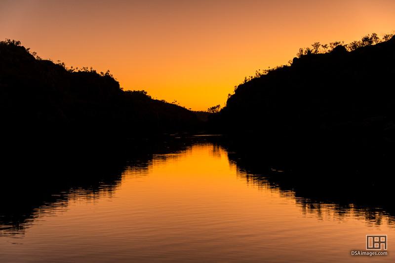 Sunset on Katherine River