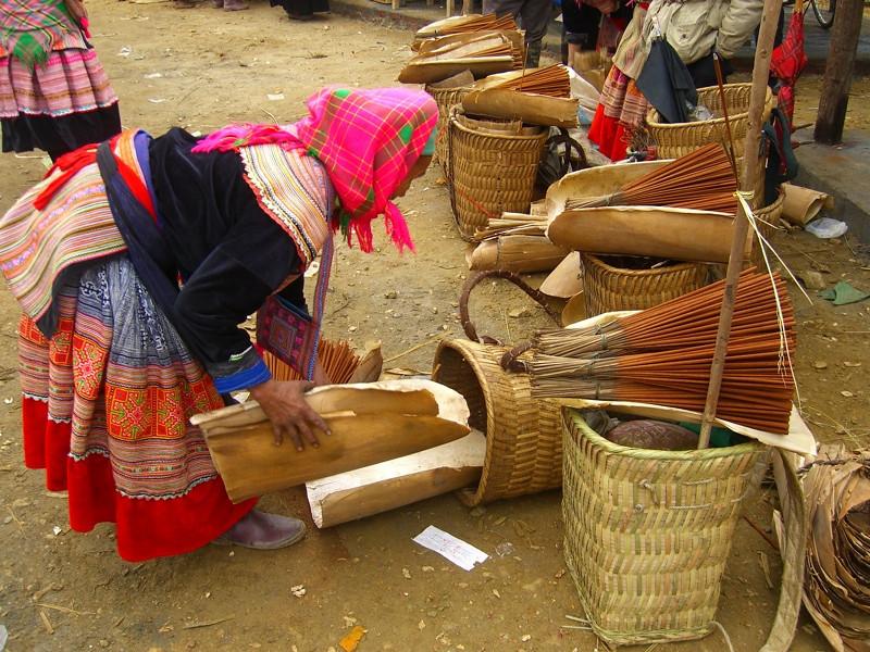 Incense - Bac Ha Market, Vietnam