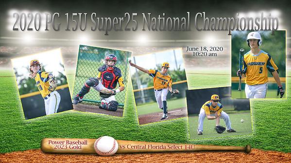 Central Fl Select 14U vs Power Baseball 2023 Gold - June 18, 2020