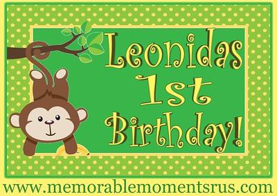 Leonidas 1st Birthday