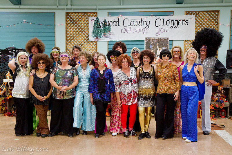 Redwood Country Cloggers after their disco performance at Late Harvest Stomp, 2012.