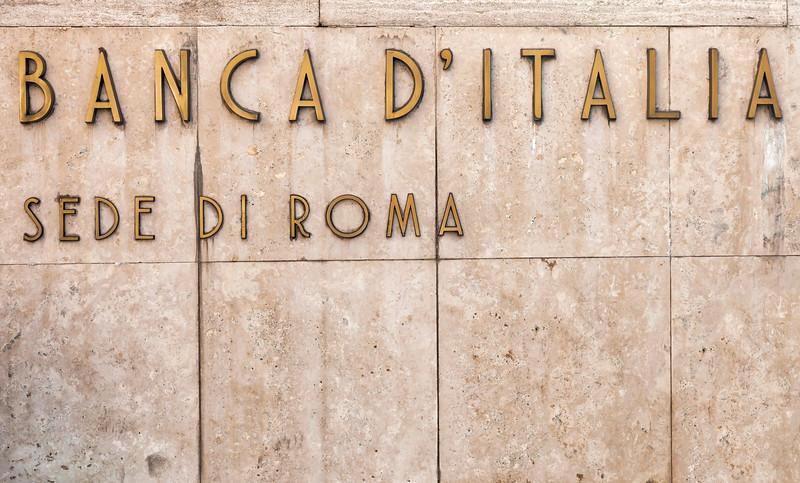 Banca d'Italia in Rome, Italy