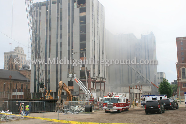 5/31/13 - Jackson highrise fire, 212 W. Michigan