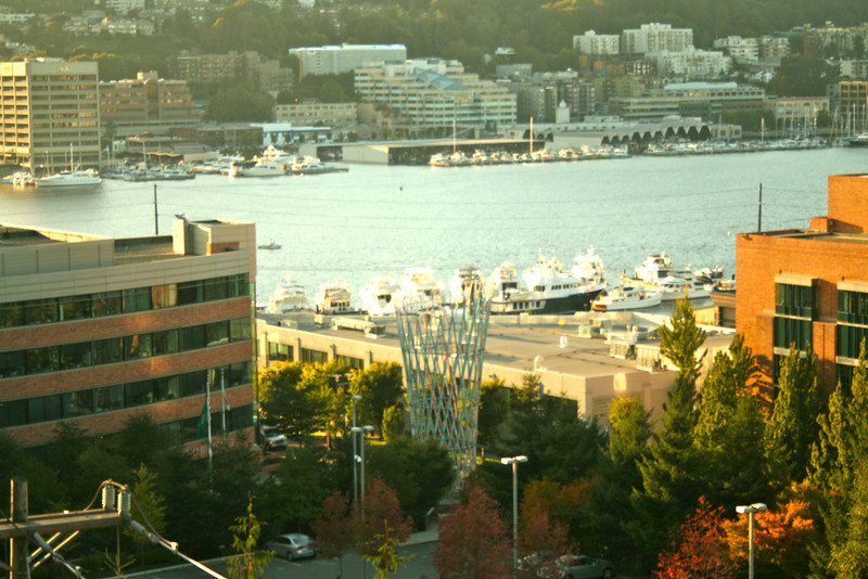 View of the vessel from above on an after work urban hike with Pam a few weeks ago (when was that?).