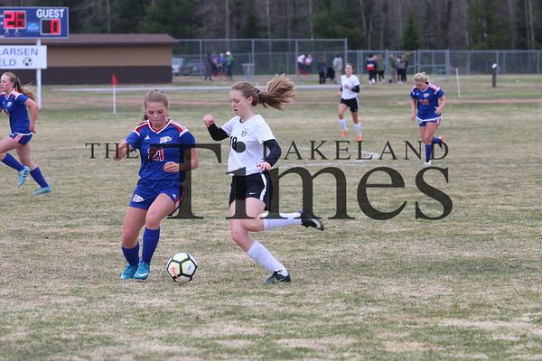 LUHS Girls' Soccer at Northland Pines May 2, 2019