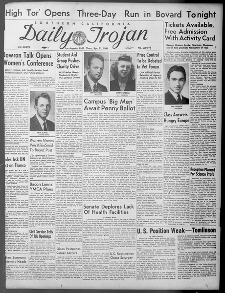 Daily Trojan, Vol. 37, No. 104, April 11, 1946