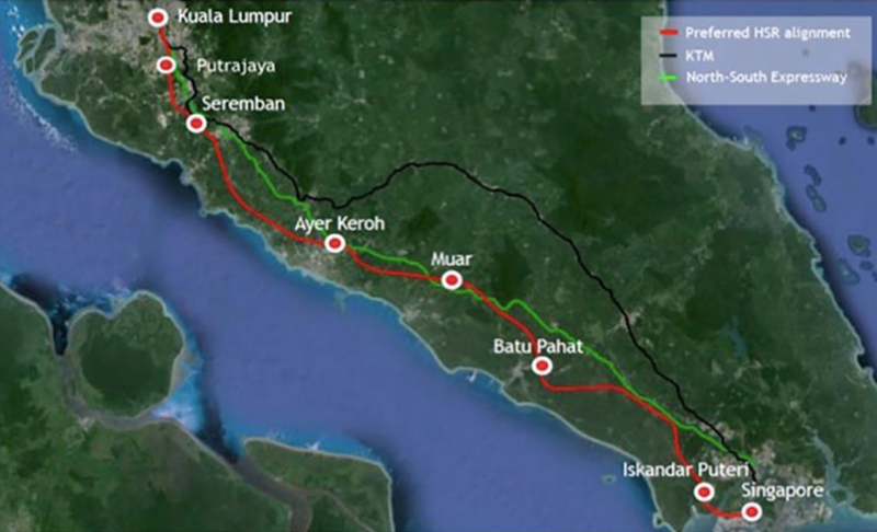 Kuala Lumpur – Singapore high speed line to open in 2026