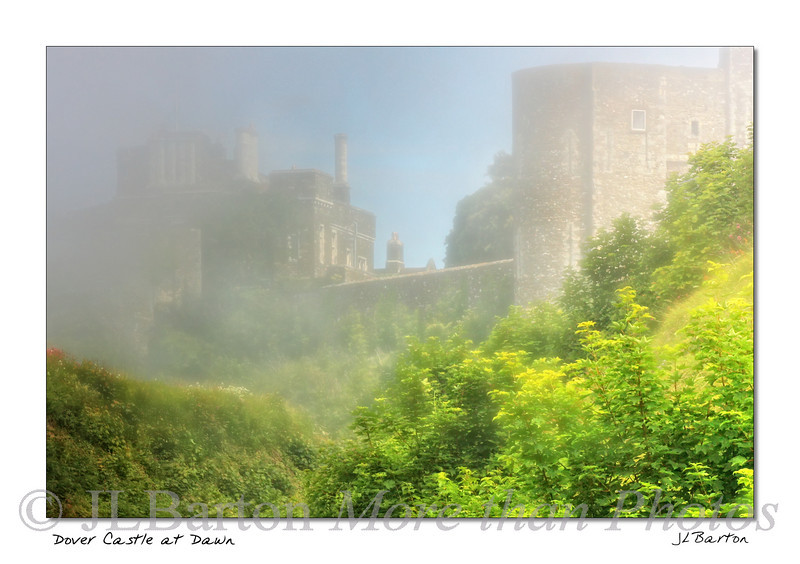 Dover Castle in morning mist Dover, UK The Romans had a fortification here - the present castle started in the 11th century.