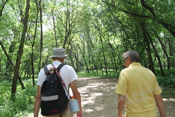 Walking with Glenn at Fort Snelling - Jun 2018