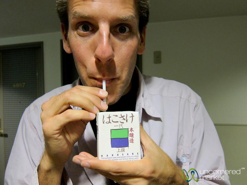 Dan Drinks Sake in a Box - Hiroshima, Japan