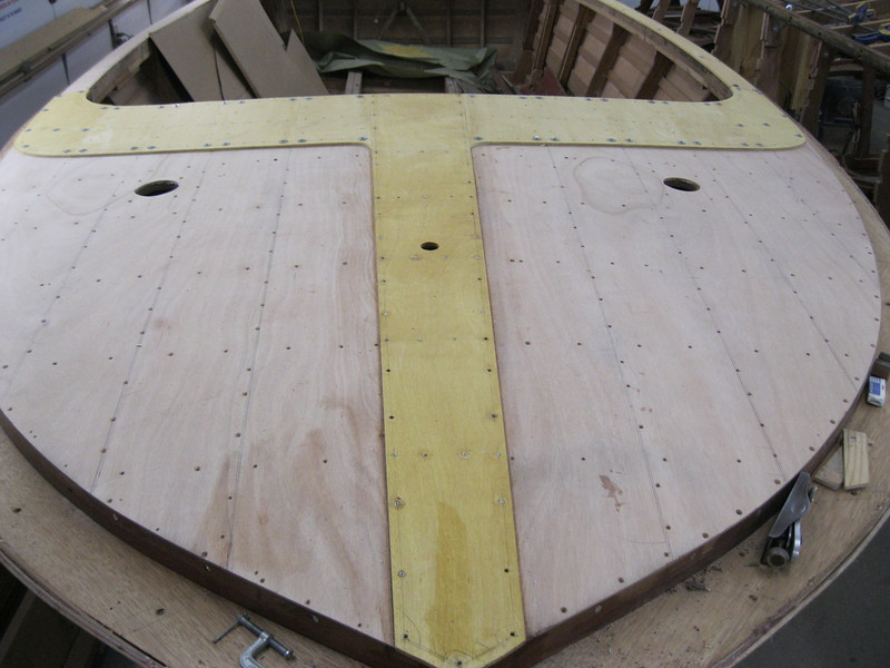 Satin wood king plank and front of cockpit fit.