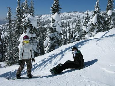 Big White Skiing Feb 2011