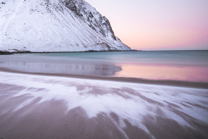 Evening Reflection at Storsandes Beach