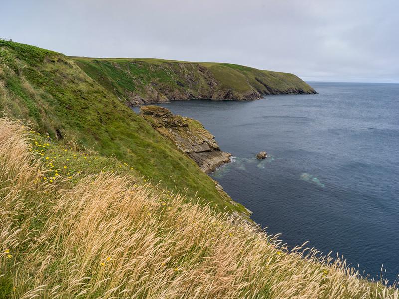 Scenic view of Erris Peninsula, Erris Head Loop Walk, Glenamoy, Belmullet, County Mayo, Ireland