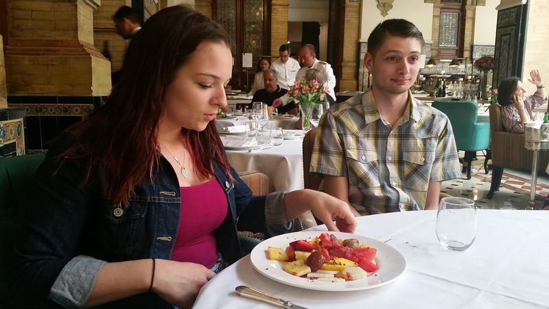 Lunch break, hotel meals were very good