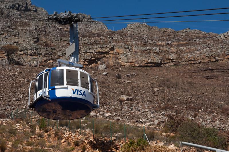 Cabin car, Table Mountain, Cape Town
