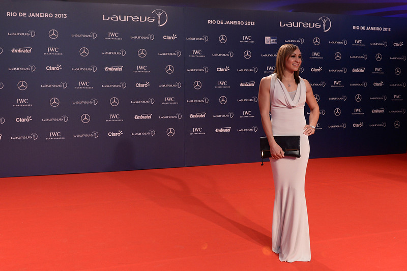 . Track and field athlete Jessica Ennis attends the 2013 Laureus World Sports Awards at the Theatro Municipal Do Rio de Janeiro on March 11, 2013 in Rio de Janeiro, Brazil.  (Photo by Buda Mendes/Getty Images For Laureus)
