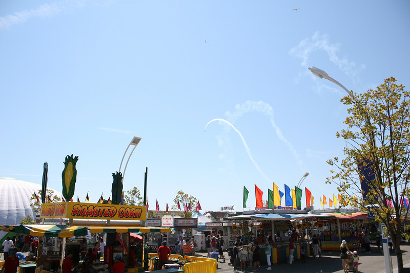Air Show from the Midway