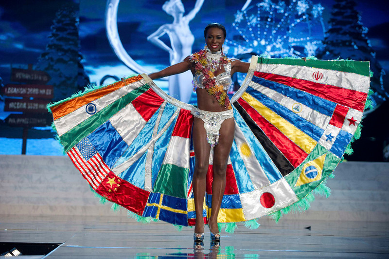 . Miss Canada Adwoa Yamoah performs onstage at the 2012 Miss Universe National Costume Show at PH Live in Las Vegas, Nevada December 14, 2012. The 89 Miss Universe Contestants will compete for the Diamond Nexus Crown on December 19, 2012. REUTERS/Darren Decker/Miss Universe Organization/Handout
