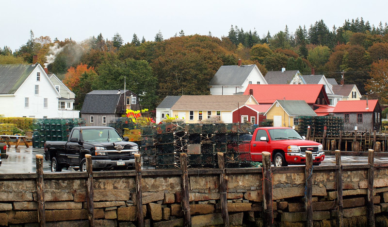 Lots and lots of lobster traps