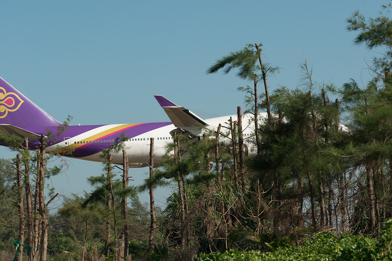 Thai Airways Boeing 747-400 landing at HKT