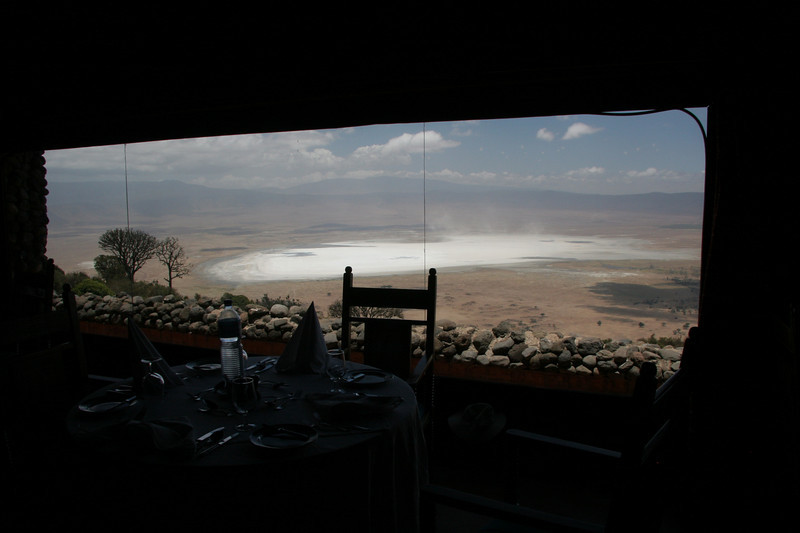 View of the crater from inside the lodge