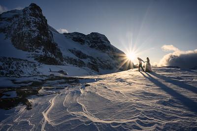 Glacier Heli, Emma & Colby