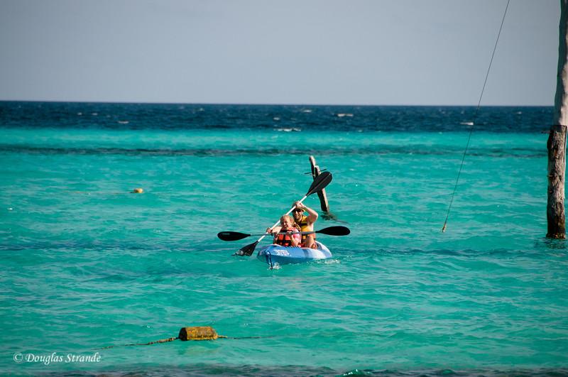 Mike and Sophia kayaking at Garafon Park