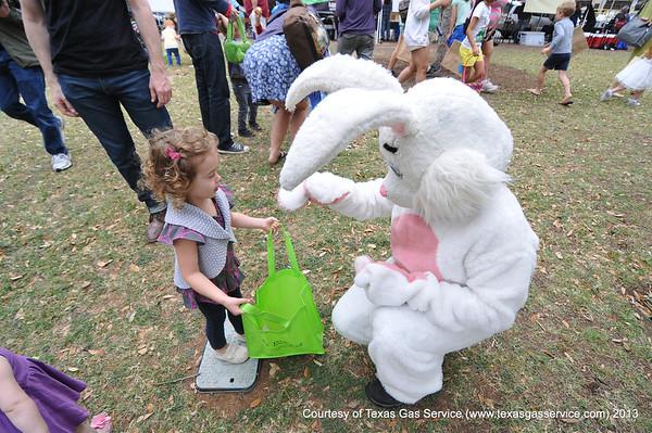 Texas Gas - Easter Bunny @ Downtown Austin Farmer's Market 2013