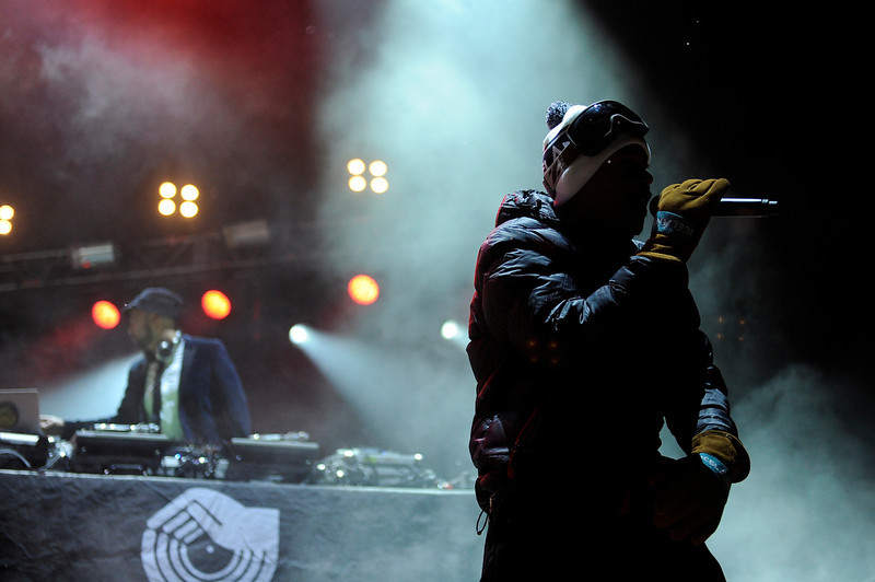 . Jurassic 5 performs during Winter on the Rocks at Red Rocks Amphitheatre on January 31, 2014 in Morrison, Colorado. (Photo by Seth McConnell/The Denver Post)