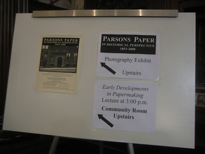Parsons Paper Exhibit at HPL