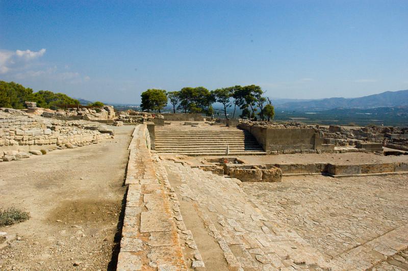 Courtyard at Phaestos on the Island of Crete