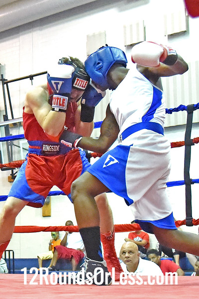 Bout 6 Ryan Caldwell, Blue gloves, 22 yrs, 143 lbs, New Philadelphia -vs- Antoine Kemp, Red Gloves, 18 yrs, 143 lbs, MLK, Clevdland