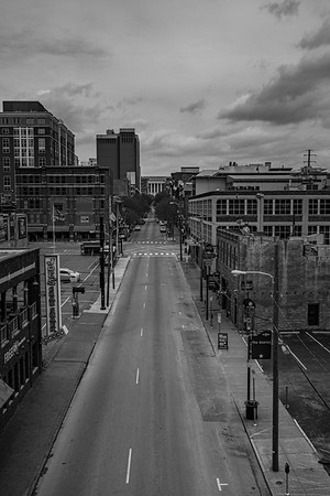 An EMPTY Downtown Nashville 3/28/20