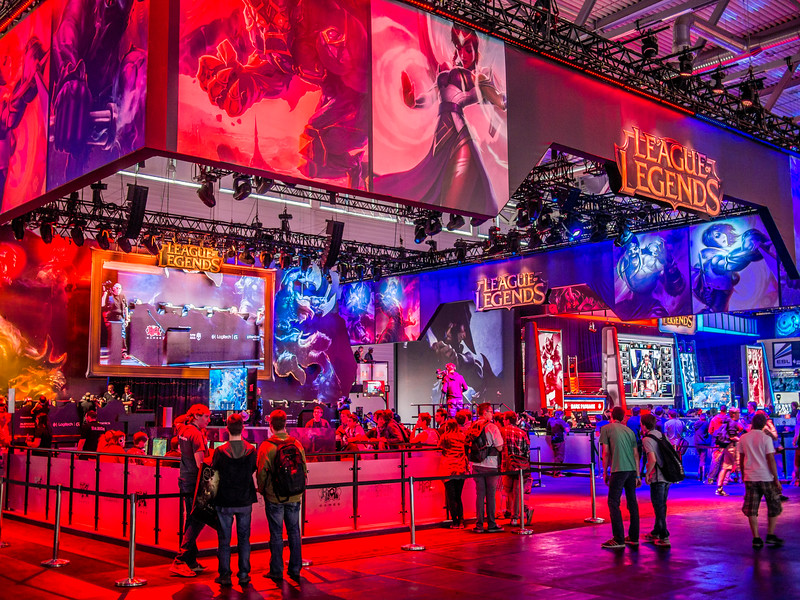 League of Legends booth at Gamescom 2013