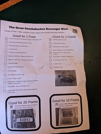 Great Conshohocken scavenger hunt 2019