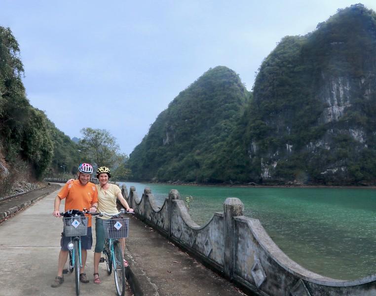 Cycling on Cat Ba Island - Halong Bay