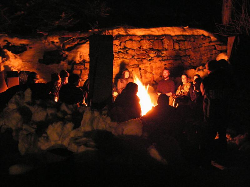 Moonlit Fire, Stonehedge Garden, South Tamaqua, 2-28-2010 (20).JPG