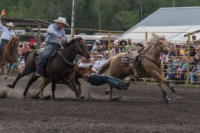Steer Wrestling Saturday 2015