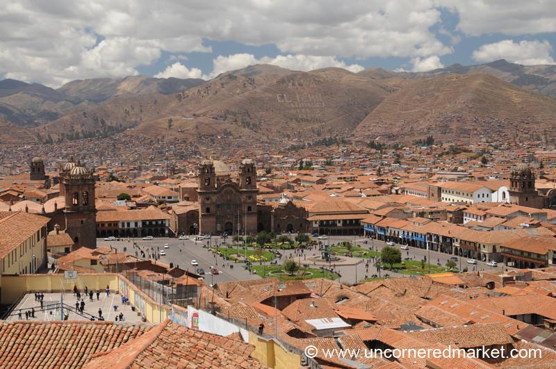 View of Cusco's Plaza de Armas - Peru