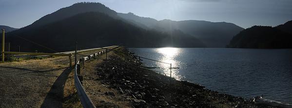 Sunrise at Hills Creek Dam