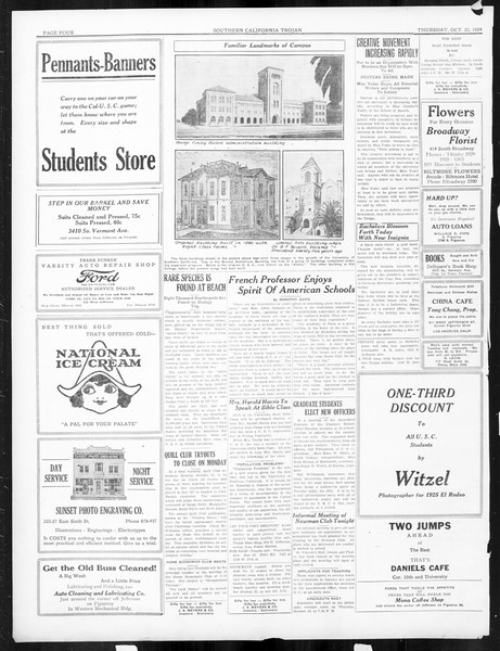 The Southern California Trojan, Vol. 16, No. 15, October 23, 1924