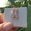 1.51ctw Diamond Mosaic OEC Dangle Earrings 20