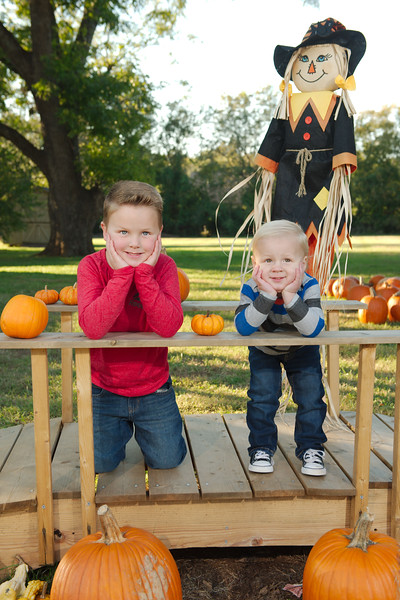 Jase and Cole at the Pumpkin Patch