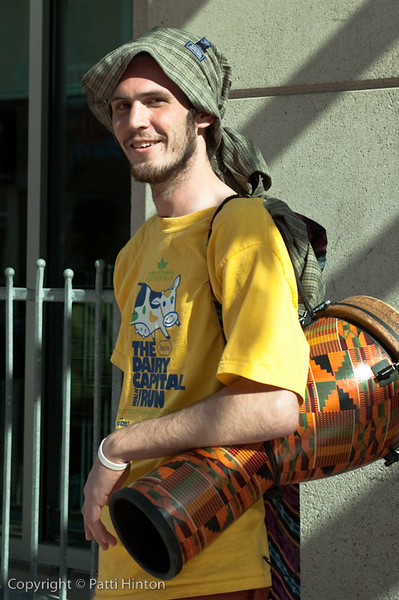Jeremy - Stranger #13 Jeremy is a busker I met on my way home. He was playing his didgeridoo and drum.