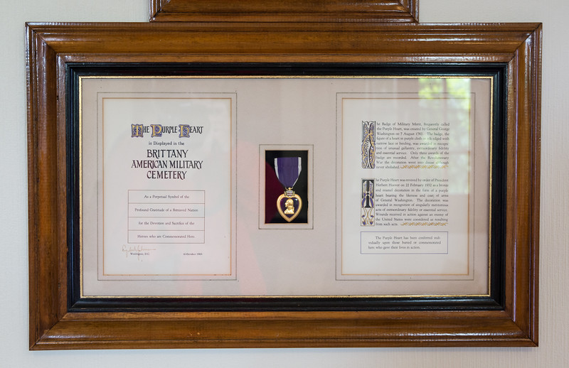 In the Visitor Building - Purple Heart